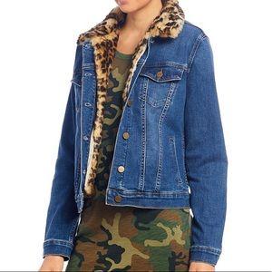 Sanctuary Kylie Removable Leopard Faux Fur Jacket